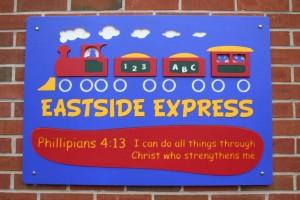 Eastside Express playground sign image