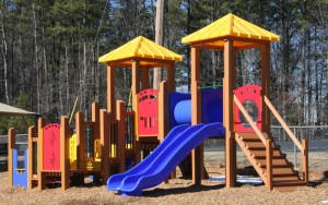recycled plastic lumber framed play set design image