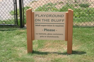 playground on the bluff sign image
