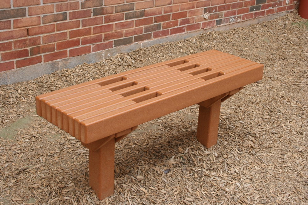four foot recycled plastic lumber sport bench image