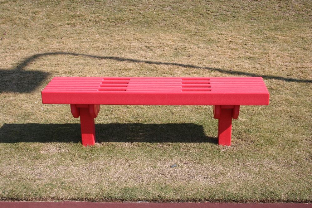Recycled Plastic Lumber Sport Bench Green Play Parks