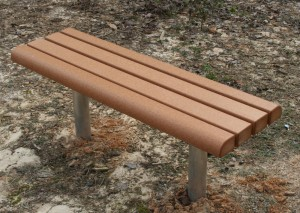 Bull nose recycled plastic lumber sport bench image