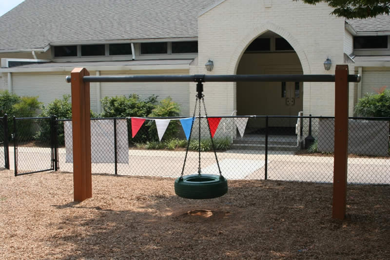 recycled plastic lumber framed Tire Swing